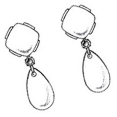 Drop earrings sketch