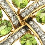 Peridot and Diamond Brooch zoom