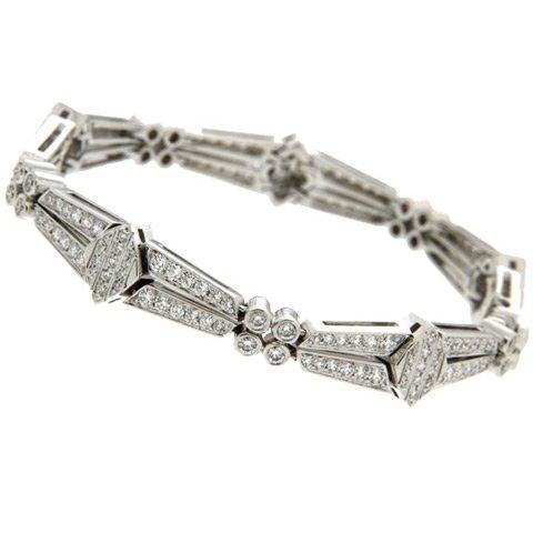 Platinum deco diamond bracelet