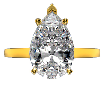 Pear shaped loose diamonds