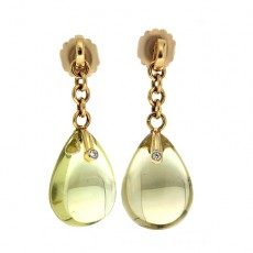 Quartz drop earrings