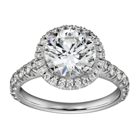 Halo Centre Engagement Ring