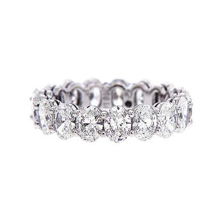 Oval Diamonds Eternity Band