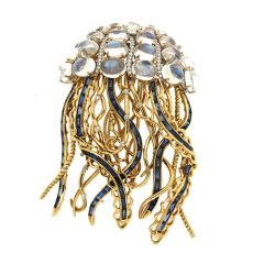 Jellyfish moonstones brooch