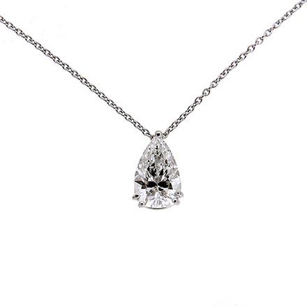 Pear Shape Diamond Solitaire Pendant