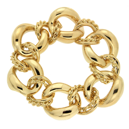 Oval Link Yellow Gold Bracelet