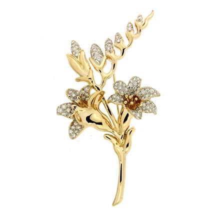 Valentin Magro floral brooch