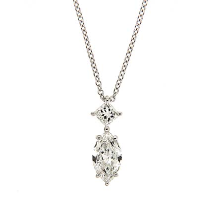 Princess and Marquise Diamond Pendant