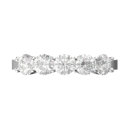 Diamond anniversary band with round brilliant diamonds