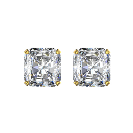 Radiant cut solitaire diamonds