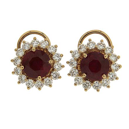 Diamonds and rubies earrings