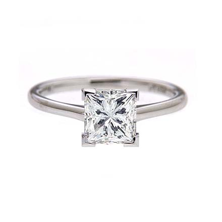 prong cathedral engagement ring