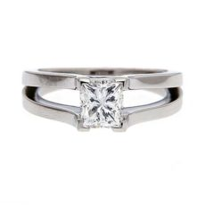 Bright Princess Cut Diamond Rings