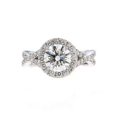 Round brilliant cut diamond engagement rings
