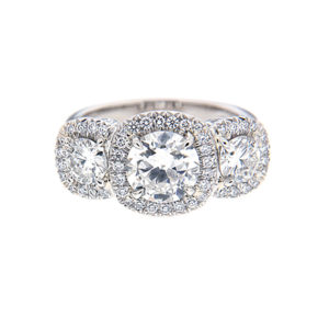 Vintage halo engagement rings