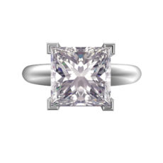 Bright Princess Cut Diamond Rings