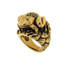 Water Lily Frog Ring