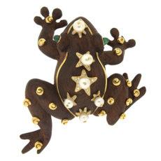 Wood Frog Brooch