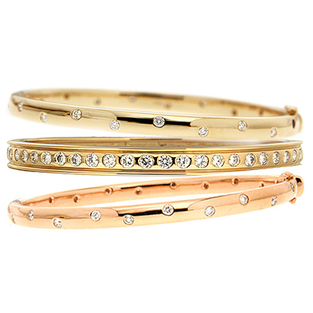 Layered Bangles Replacing Single Pieces in the Everyday Wear Section