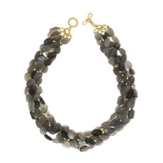 Gray Moonstone Strand Necklace