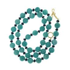 Amazonite and Lapis Necklace