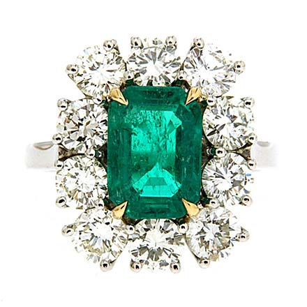 3 Ideal Settings for a Round-Cut Emerald Stone