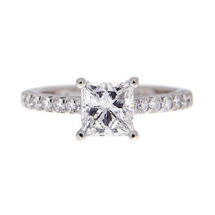 Princess Cut Diamond through a Jeweler's Loupe