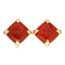 Cushion Carnelian Earrings