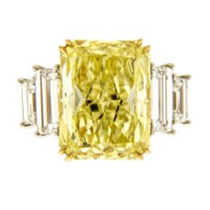 Radiant Yellow Diamond Ring