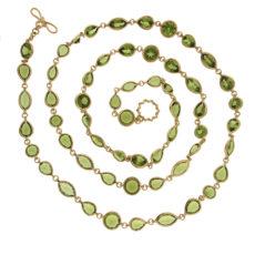 Multiple Shaped Peridot Necklace