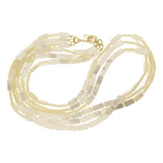 Mother of Pearl Gold Strand Necklace