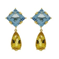 Topaz and Citrine Drop Earrings