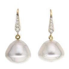 Baroque White Pearl Drop Earrings