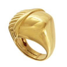 Woven Gold Ring with Texture