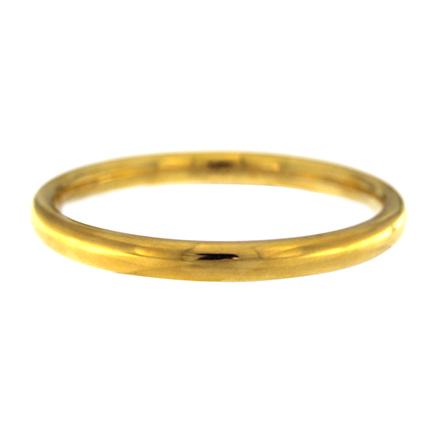Solid Gold Bangle Bracelet