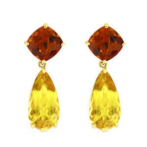 Madeira and Beryl Drop Earrings