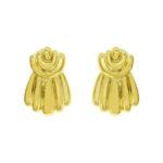 Gold Drape Earrings
