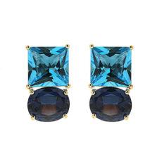 Blue Topaz and Alexandrite Earrings