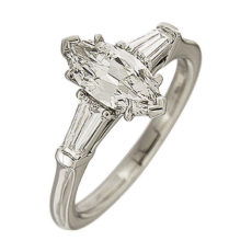 0.89ct Marquise Engagement Ring