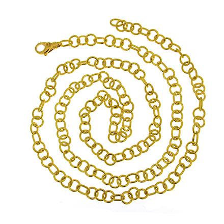Gold Doppio Link Chain Necklace