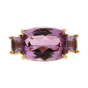 Kunzite and Amethyst Ring