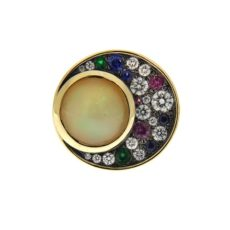 Opal and Multi Color Stone Ring