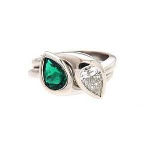 Pear Shape Double Ring