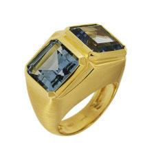 Blue Topaz Gold Ring