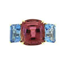 Tourmaline, Topaz & Diamond Ring