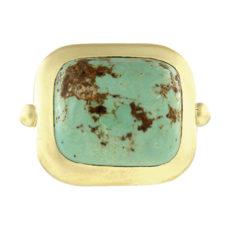 Cushion Cabochon Turquoise Ring