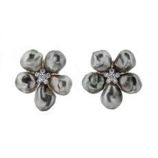 Cluster Tahitian Keshi Pearl Earrings