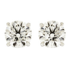Platinum Solitaire Diamond Earrings