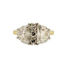 Half Moon with Round Diamonds Ring