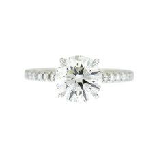 Round Diamond Prong Engagement Ring